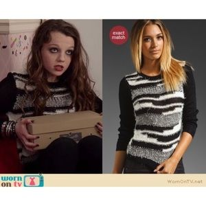Alice Olivia Topanga Fuzzy Sweater SEEN ON TV